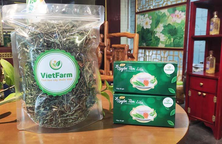 Dược liệu xuyên tâm liên Vietfarm đang cung cấp ra thị trường