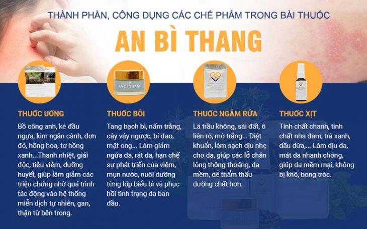 Bộ 4 chế phâm An Bì Thang trị viêm da cơ địa