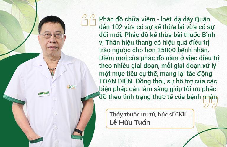 Thầy thuốc ưu tú, BSCKII Lê Hữu Tuấn đánh giá về bài thuốc Bình Vị Thần Hiệu Thang
