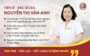 TS.BS Nguyễn Thị Vân Anh nói về giải pháp chữa viêm loét dạ dày HP tốt nhất nhờ Nhất Nam Bình Vị Khang