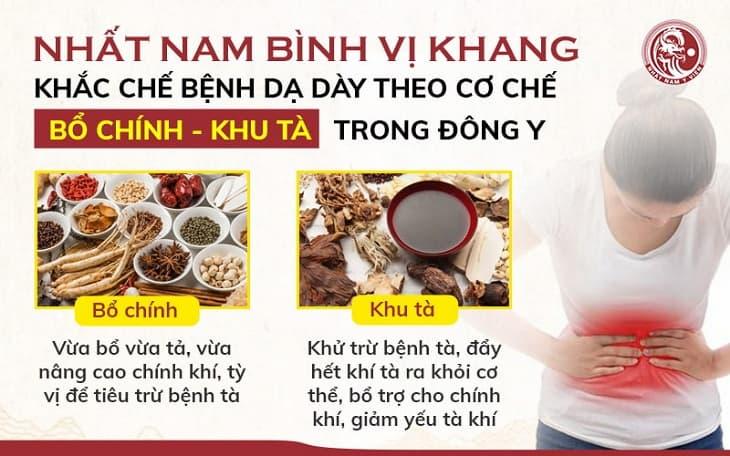Nhất Nam Bình Vị Khang có khả năng khắc chế các vấn đề về dạ dày theo quan điểm của Đông y