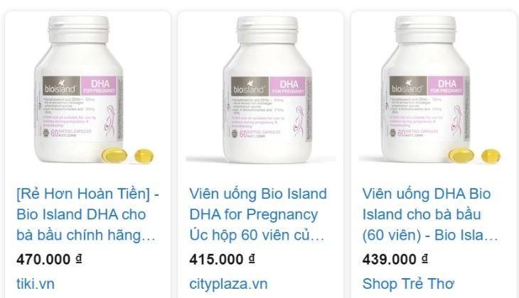 Giá bán sản phẩm hiện nay
