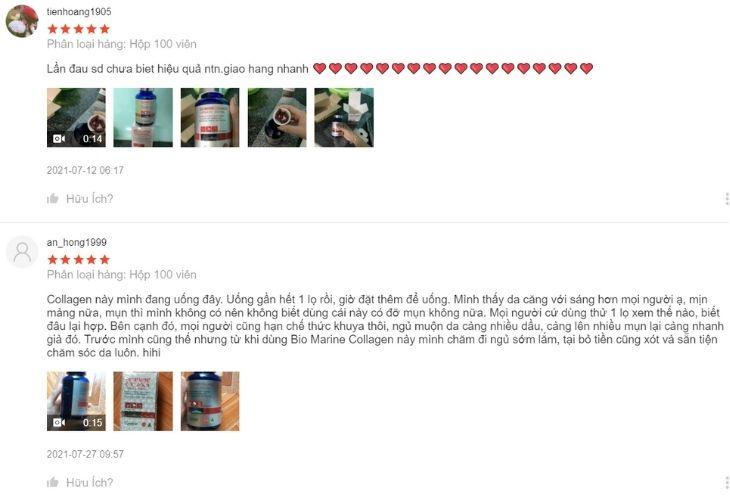 Trên trang thương mại điện tử Shopee người dùng nói gì về viên uống bổ sung collagen này
