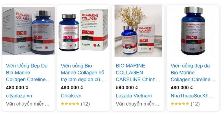 Viên uống Bio Marine Collagen của Úc đang được bán tại thị trường Việt Nam với giá bao nhiêu