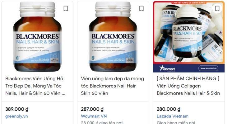 Giá của sản phẩm Blackmore Nail Hair Skin