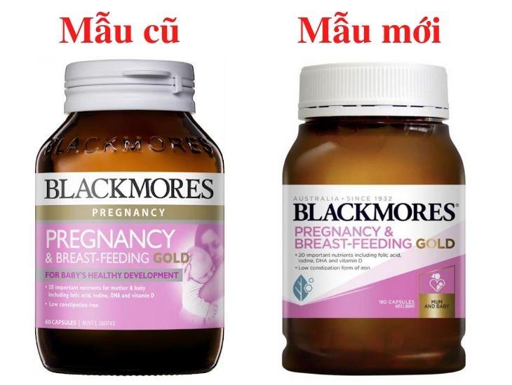 Hai mẫu sản phẩm của Blackmores