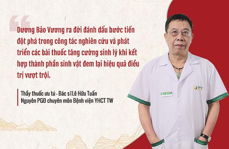Đánh giá của bác sĩ Lê Hữu Tuấn - Viện phó Viện Nghiên cứu và Phát triển Y dược cổ truyền dân tộc