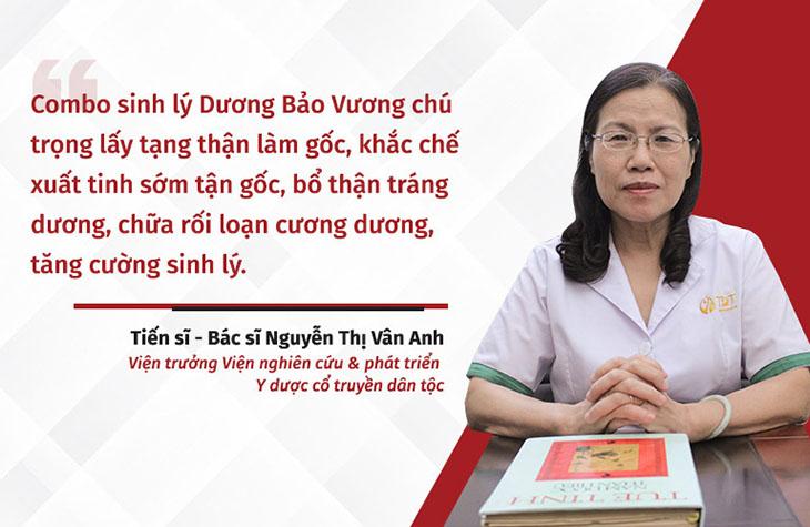 TS. BS Nguyễn Thị Vân Anh-Viện trưởng Viện Nghiên cứu và phát triển Y dược cổ truyền dân tộc