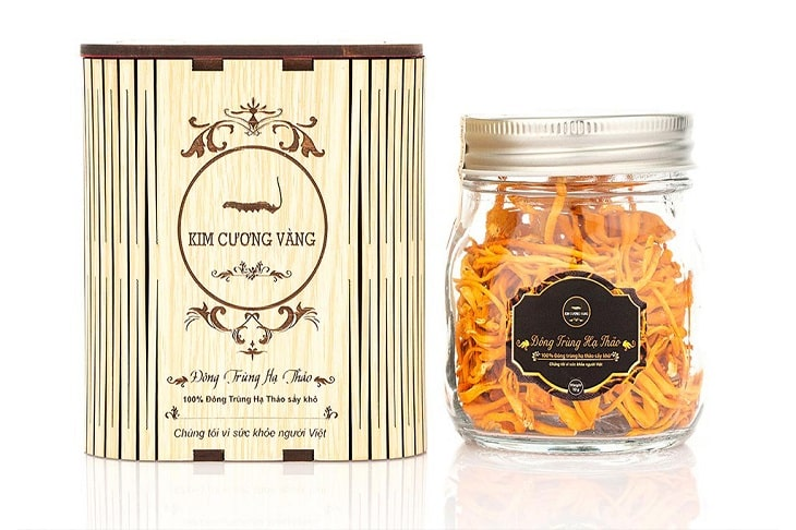 Đông trùng hạ thảo nhãn hiệu Kim Cương Vàng rất nổi tiếng ở Đà Nẵng và cả nước