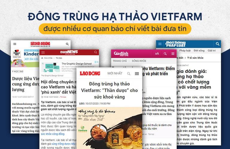 Nhiều thời báo uy tín đánh giá cao chất lượng Đông trùng hạ thảo Vietfarm