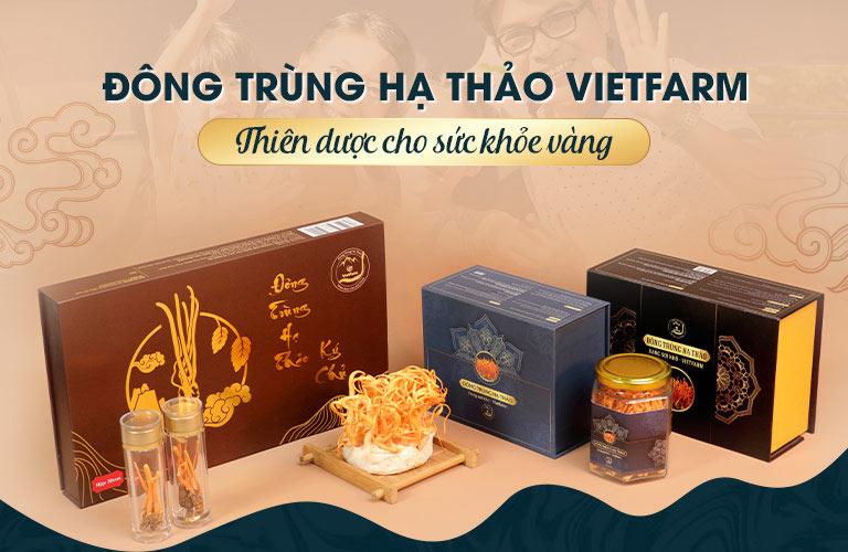 Bộ sản phẩm của Đông trùng hạ thảo Vietfarm