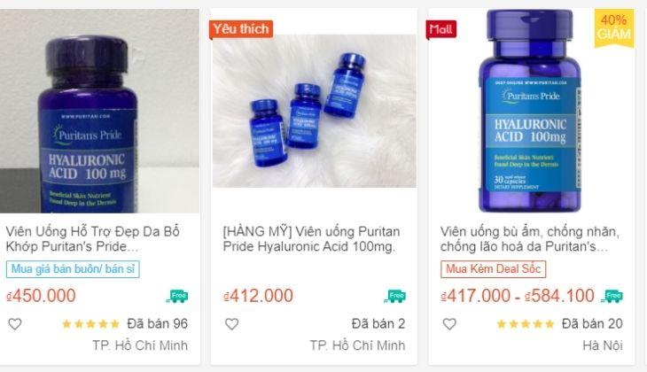 Bạn có thể mua trên các trang mua sắm online với giá không chênh nhiều