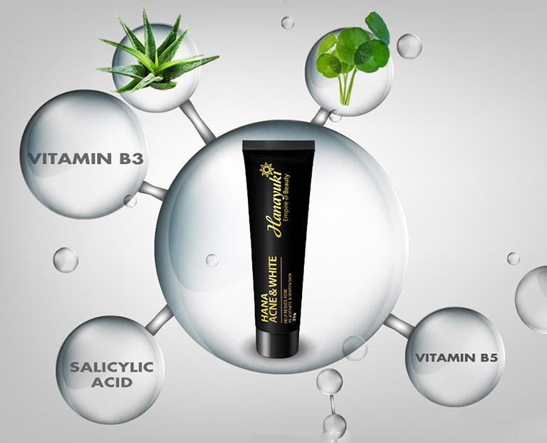 Kem trị mụn có thành phần chính là chiết xuất thảo dược nên rất an toàn đối với làn da