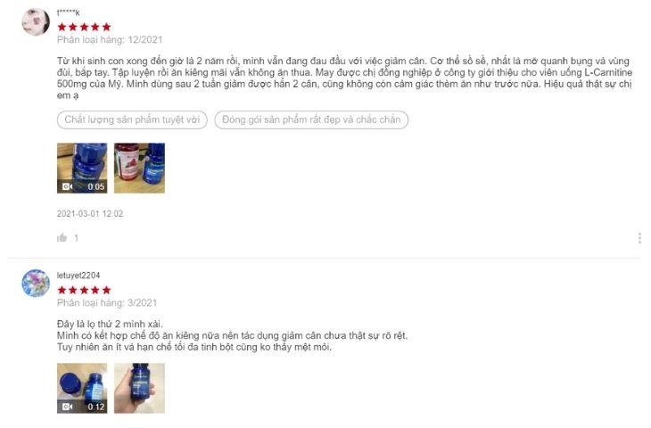 Phản hồi của người dùng trên Shopee đều rất tích cực