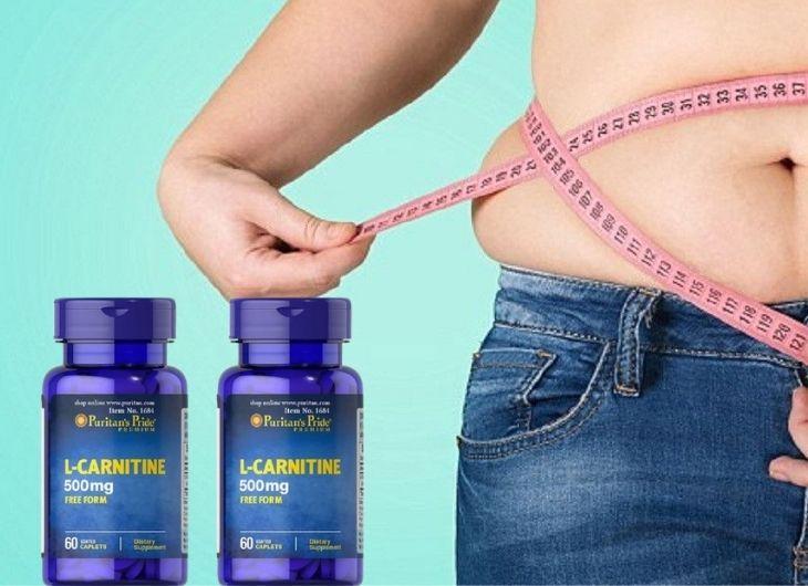 Puritan's Pride bổ sung 500mg L-Carnitine giúp giảm mỡ vùng bụng, mông, đùi hiệu quả