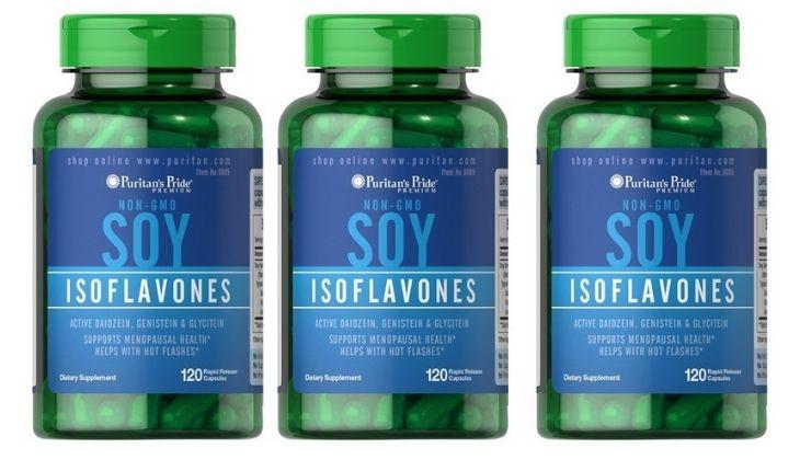 Mầm đậu nành Soy Isoflavones được sản xuất bởi Puritan's Pride Mỹ
