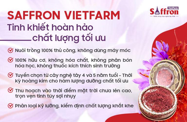 Saffron Vietfarm sở hữu những ưu điểm tốt nhất