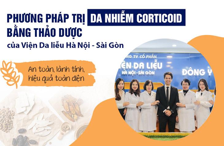 Giải pháp phục hồi da nhiễm Corticoid của Viện Da liễu Hà Nội - Sài Gòn đem lại hiệu quả nhanh chóng