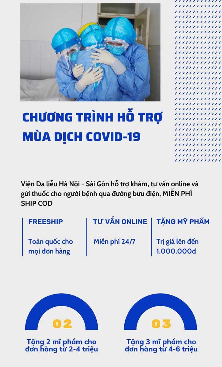 Viện Da liễu Hà Nội - Sài Gòn triển khai chương trình hỗ trợ khách hàng trong mùa dịch