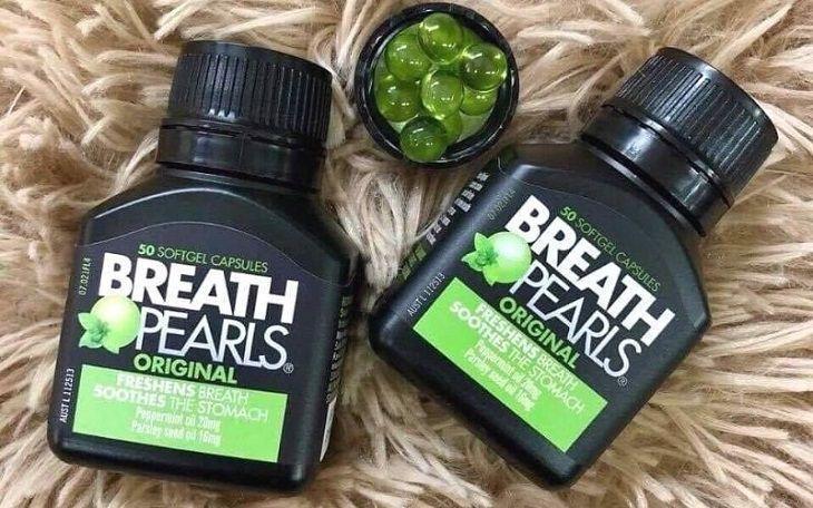 Một số câu hỏi liên quan đến viên uống thơm miệng Breath Pearls
