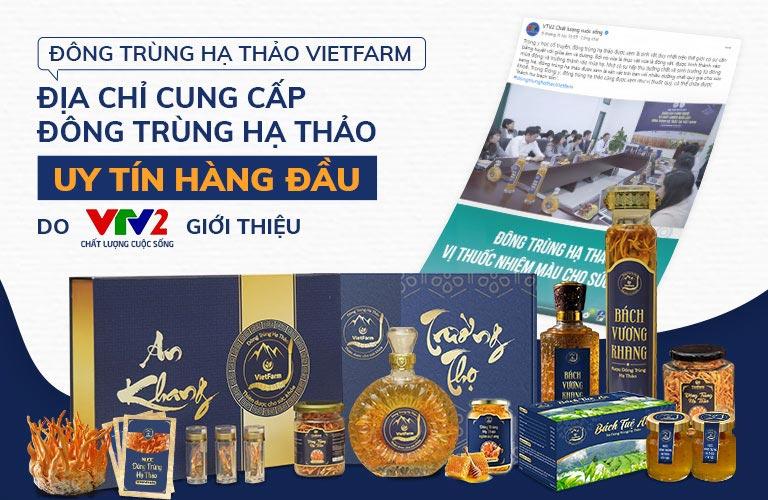 Đông trùng hạ thảo Vietfarm xuất hiện trên nhiều báo lớn và kênh truyền hình quốc gia