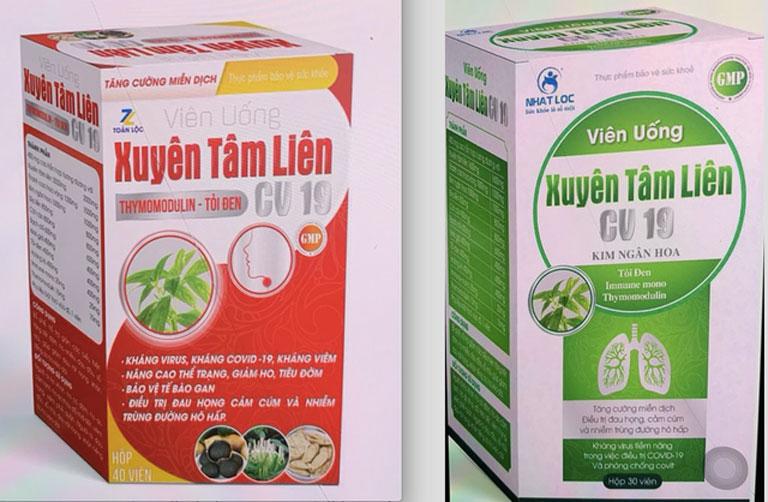 Hai sản phẩm thực phẩm chức năng giả mạo thuốc kháng COVID-19