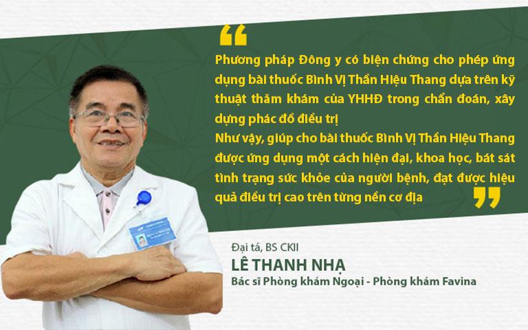 Bác sĩ Lê Thanh Nhạ đánh giá về phương pháp Đông y có biện chứng