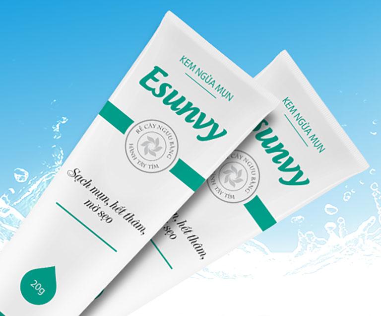 Kem trị mụn Esunvy là sản phẩm được rất nhiều người tin dùng để cải thiện các vấn đề về mụn trên da