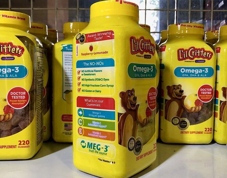 Một số câu hỏi liên quan đến Omega 3 L'il Critters