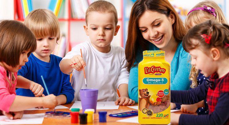Kẹo gấu L'il Critters Omega 3 mang đến nhiều công dụng cho trẻ nhỏ