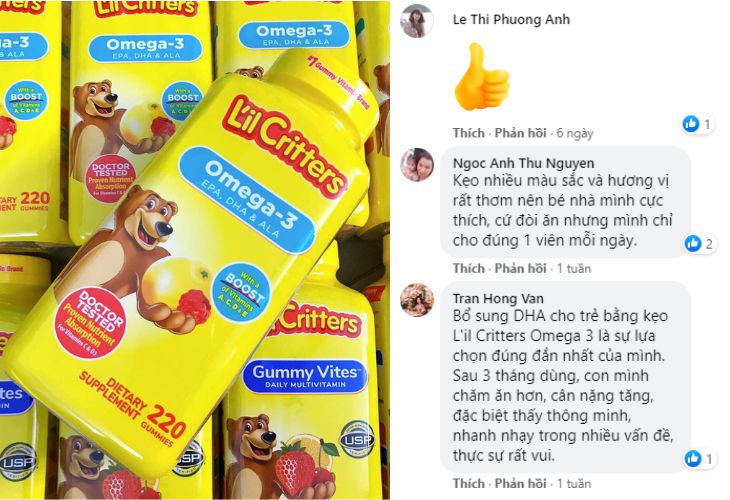 Review của khách hàng về sản phẩm trên Facebook