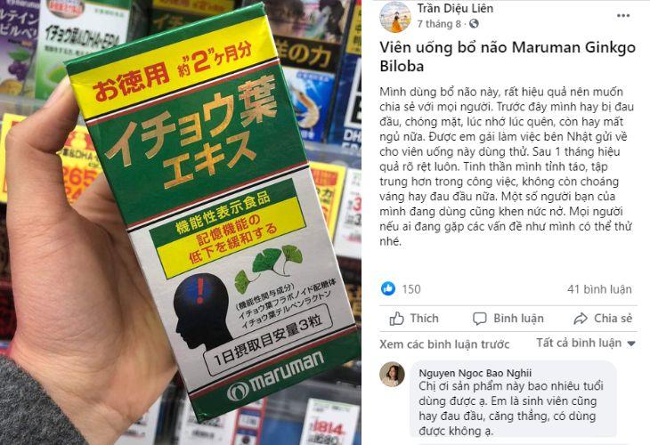 Review của người dùng về sản phẩm trên Facebook