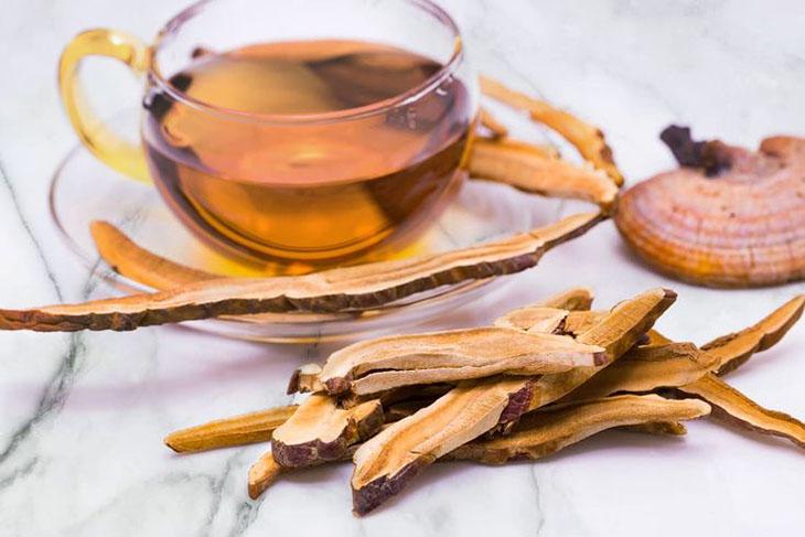 Nấm linh chi hãm trà đem lại nhiều lợi ích với tinh thần, giấc ngủ
