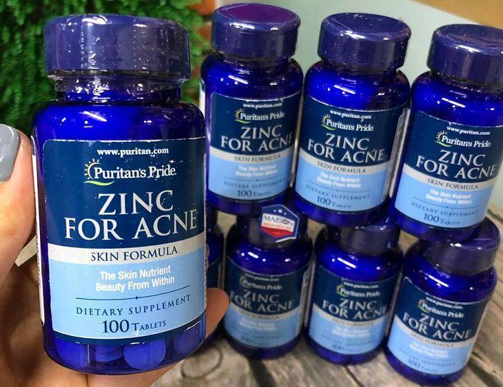 Một số câu hỏi liên quan đến Puritan's Pride Premium Zinc For Acne