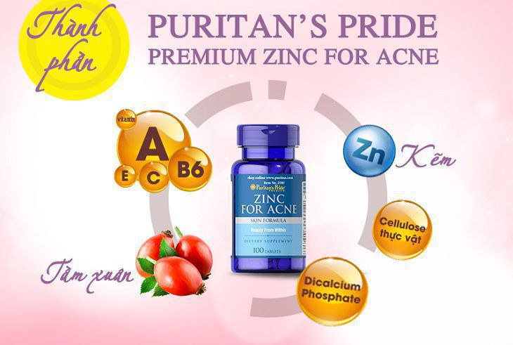 Puritan's Pride Premium Zinc For Acne là sản phẩm gì