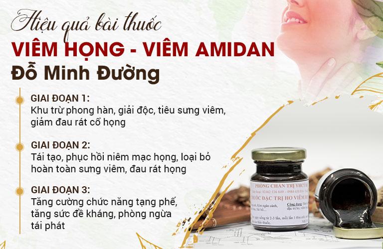 Hiệu quả bài thuốc chữa viêm họng, viêm amidan của Đỗ Minh Đường