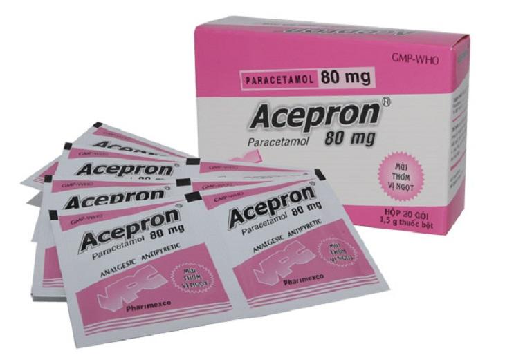 Acepron có tên đầy đủ là Acepron Paracetamol