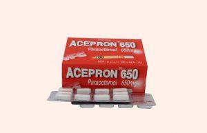 Acepron Paracetamol là loại thuốc giảm đau, hạ sốt