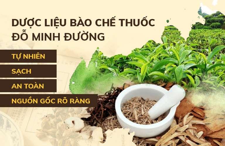 Bài thuốc Mề đay Đỗ Minh được điều chế hoàn toàn từ nguồn thảo dược thuần Việt