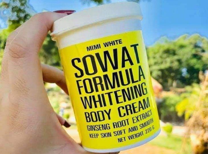White SOWAT Formula Whitening Body Cream