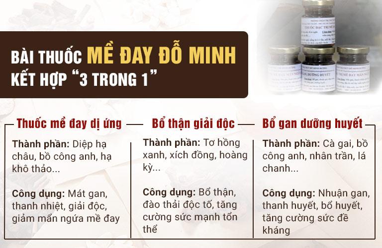 """Liệu trình """"3 trong 1"""" của bài thuốc gia truyền Mề đay Đỗ Minh"""