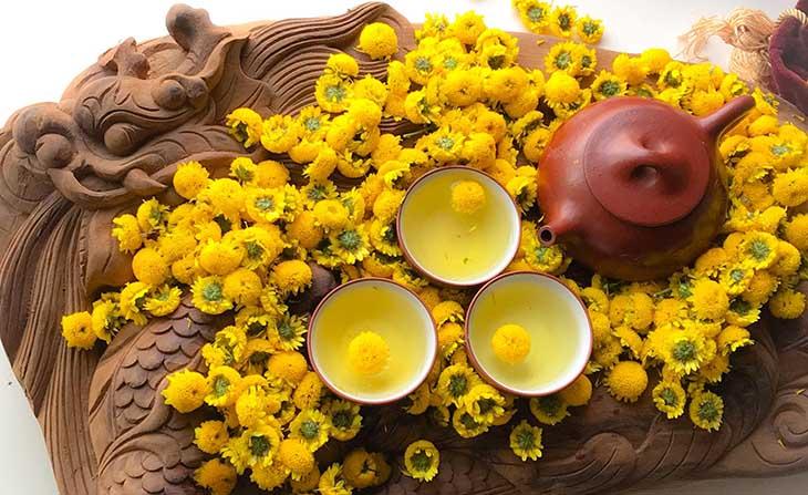 Trung tâm Nghiên cứu và Nuôi trồng Dược liệu Vietfarm cung cấp trà hoa cúc uy tín